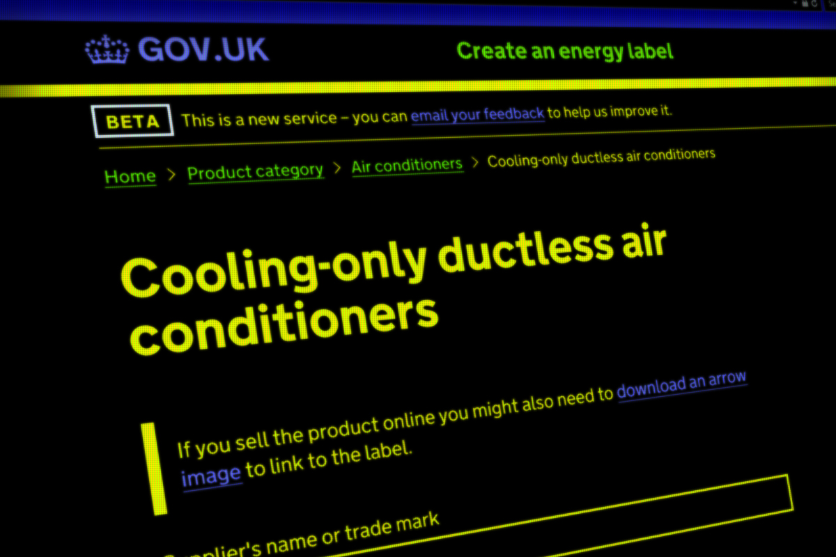 A screenshot of a GOV.UK service in high-contrast mode